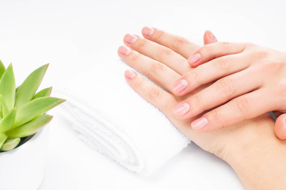Beautiful woman hands. Spa and manicure