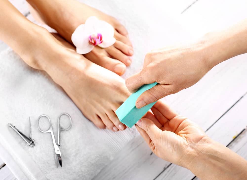 Pedicure, beautiful healthy nails