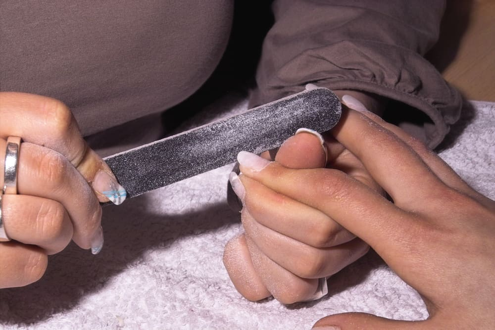 The process of making a manicure