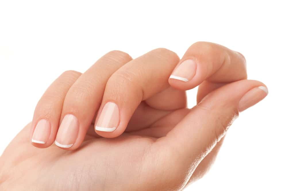 French manicure close-up